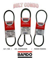 Pathfinder 3.3L 96-00 BANDO Drive Belt Kit 3 Pcs AC-PWR-ALT 6PK1065-5PK1285-3340