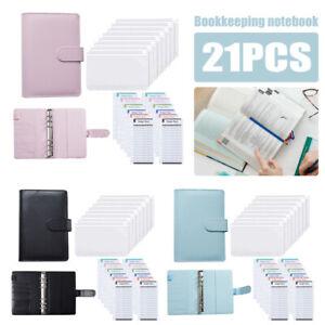 PU Leather Budget Binder Cover Cash Plan Notebook Budget Cash Envelopes Envelope