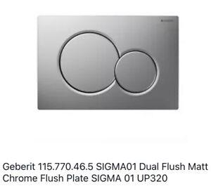 Geberit 115.770.KA.5 Sigma01 Toilet Dual Flush Plate Gloss / Matt Chrome