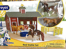 Breyer Collectable Horses Stablemate Red Stable Set