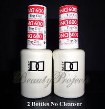 2pc DND Daisy Soak Off Gel Polish Top Coat 600 No Cleanser full size LED/UV gel