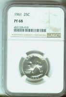 1961 25c Washington Quarter Silver Proof NGC PF68 4521335-010