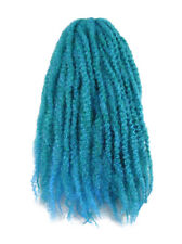 CYBERLOXSHOP MARLEY BRAID AFRO KINKY HAIR PETROL BLUE OMBRE DREADS SYNTHETIC