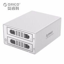 "ORICO Raid 2 Bays 3.5"" SATA Hard Drive Enclosure HDD SDD USB 3.0 & eSATA Dock"