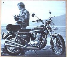 Älteres Blechschild Oldtimer Motorrad Honda gebraucht used