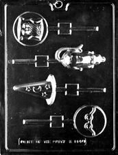 HARRY THE WIZARD ASST LOLLIPOP DIY CHOCOLATE CANDY MOLD PARTY FAVORS