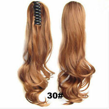 New Thick Clip In Pony Tail Hair Extensions Claw Clip On Ponytail As Human Piece