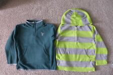 NWT Boy Green Half-Zip Fleece Pullover Jacket Hoodie Top, Size 5T - Lot of 2