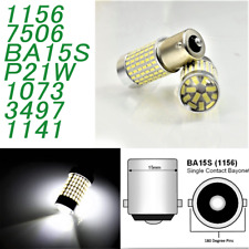 White Front Turn Signal Light 1156 BA15S P21W 7506 3497 1141 144 LED Bulb A1 LAX
