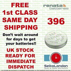 1X Renata 396, SR726W, SR59, SR726, SB-BL 1.55v Battery FREE 1st class post