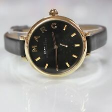 New Marc Jacobs MJ1416 Sally Black Golden Dial and Black Band Women Watch