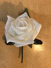 Mens Cornish National Tartan Buttonhole White Rose Pin Wedding VGC Occasion
