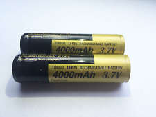 NEW 2x High Quality Li-Ion 18650 3.7V 4000mAh Rechargeable Lithium Batteries