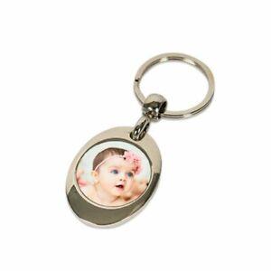 Schlüsselanhänger mit Fotodruck Einkaufswagenchip Wunschfoto Muttertag