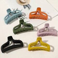 Women Solid Color Acrylic Hair Claws Clamp Geometric Hair Clip Hairpins Holder