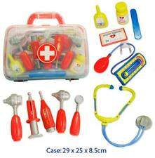 Portable Childrens Medical Doctors Kit in Carry Case - 11pc Set