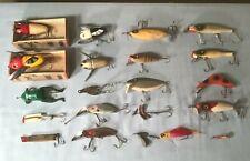 20 Vintage Old Fishing Lures Heddon Crazy Crawler Paw Paw Halik South Bend