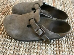 $155 BIRKENSTOCK Size 36 5 Women Boston Leather Clogs Shoes
