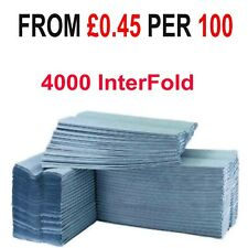 4000 Blue Paper Hand Towels V fold  tissues InterFold Premium Quality Single Ply