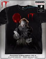 It Pennywise Holding Balloon Clown Movie Creepy Adult Mens T Tee Shirt 12-4