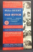 1936 movie herald   OLD HUTCH    with Wallace Berry, Eric Linden, Cecilia Parker