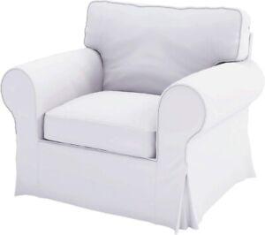 IKEA EKTORP Armchair Slipcover -White (Ivory)