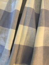 Decorator Lavender Buffalo Check Linen Fabric Remnant New (1)