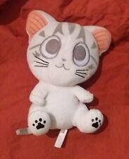 Doudou peluche chat 18 cm avec oreilles en TBE