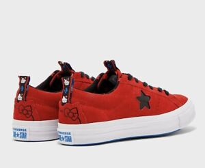 NWT CONVERSE Hello Kitty One Star OX Red Suede Youth Girl's Size 3