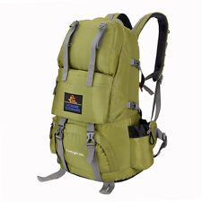 50L Outdoor Camping Hiking Rucksack Shoulders Bag Climbing Backpack Travel Green