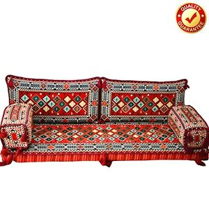 Arabic Turkish Sofa Oriental Set Ethnic Home Decor Kilim Cushion Red Only Covers