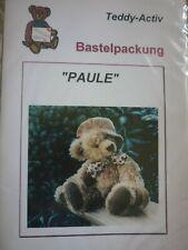 """Schnittmuster f. Teddybär """"Paule"""" von Teddy-Activ"""