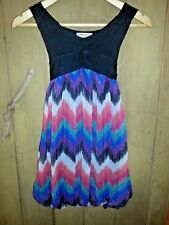Girls  DRESS Black Bodice & Colourful Skirt Bubble Hem WAYNE JNR  Size 10 VGUC