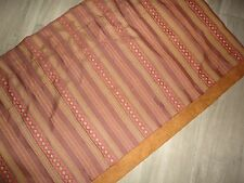 CROSCILL BROWN RED STRIPE CAMEL GOLD SOUTHWESTERN FAUX SUEDE VALANCE 20 X 86