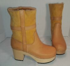 NWD HASBEENS NATURAL LEATHER HIPPIE LOW BOOTS SIZE US 8 EUR 38