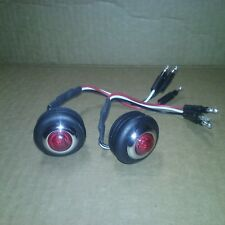 Red Bed Roll Stop/Tail Lights LED, Chevy, GMC, Truck, Step Side, 1954-1987