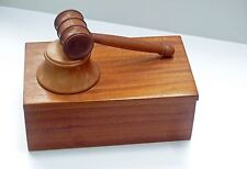 Presentation Boxed Wooden Gavel Set in Mahogany Tommy Woodpecker Woodworks