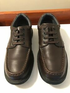 Mens Clarks brown Cushion Cell Shoes, Leather, laces, size UK 9.5H  EU 44