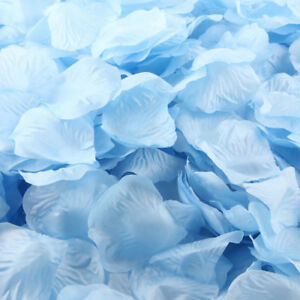 BABY BLUE  SILK ROSE PETALS FLOWER TABLE DECORATION CONFETTI WEDDING PARTY