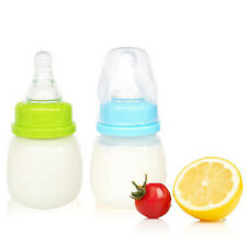 60ml 2oz Silicon Milk Juice Nursing Nipple Feeding Bottles Baby Infant Bottle