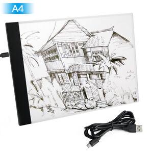 A4 LED Drawing Tracing Board Light Box Tattoo Art Stencil UltraThin Lightbox Pad