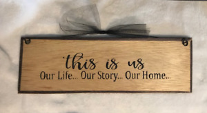 This is Us our Life our Story our Home country inspiration wall decor wood sign