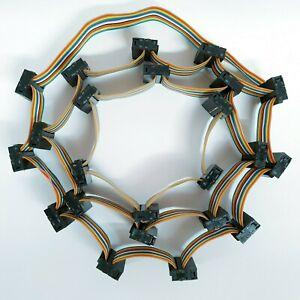 Jehu's Powerwall PCB Project 7S 16 PIN IDC X23 BMS Rainbow Ribbon Flex Cable
