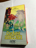 THE LAST UNICORN ITC HOME VIDEO VHS JEFF BRIDGES, MIA FARROW