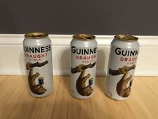 (3) Limited Edition Guinness Hanging Kinkajou Draught Aluminum Beer Can Cans