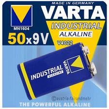 """""""50x VARTA Batterie 9Volt Block V4022 6LR61 INDUSTRIAL"""