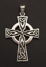 Crucifix Pendentif Croix Celtique Celte Irlandais en Argent 925-6.4g K51 25889