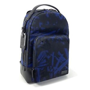 """Tumi Cooper Slim Backpack Harrison Collection Blue Palm Print Fits 13"""" Laptop"""