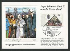 BUND MK 1987 PAPST-BESUCH BOTTROP MAXIMUMKARTE POPE MAXIMUM CARD MC CM m61