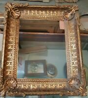 Cornice ovale in legno foglia oro. per quadri, foto, stampe,poster ecc.